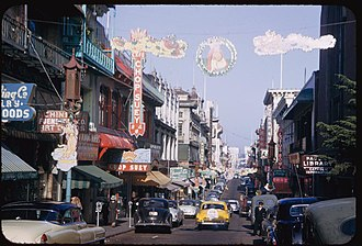 Chop suey - Image: North on Grant Ave. from California. San Francisco. Chinatown. (4157858849)