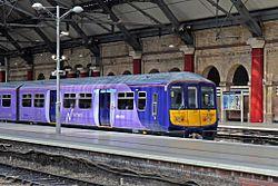 Northern Electrics Class 319, 319380, platform 2, Liverpool Lime Street railway station (geograph 4499510).jpg