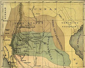Shan States - 19th century map including the Chinese Shan States.
