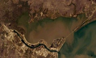 Nueces Bay - Nueces Bay from Space