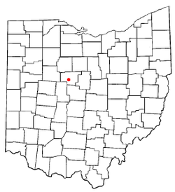 Location of Green Camp, Ohio