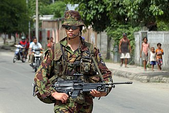 Royal New Zealand Infantry Regiment - A member of 1 RNZIR in East Timor during 2007