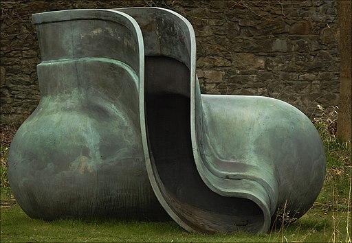 Tony Cragg, Object in Sculpture Garden. Scottish National Gallery of Modern Art