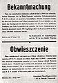 Obwieszczenie niemieckie o rozstrzelaniu 100 zakładników po akcji Kutschera.jpg