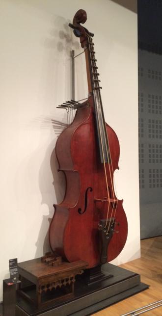 Octobass - Photo of an Octobass at Musée de la Musique, Paris.