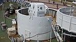 Oerlikon 35mm cannon mounted on JCG Settsu(PLH-07) left rear top view at Port of Kobe July 22, 2017 02.jpg