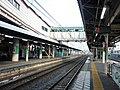 Okegawa Station Platform 201806.jpg