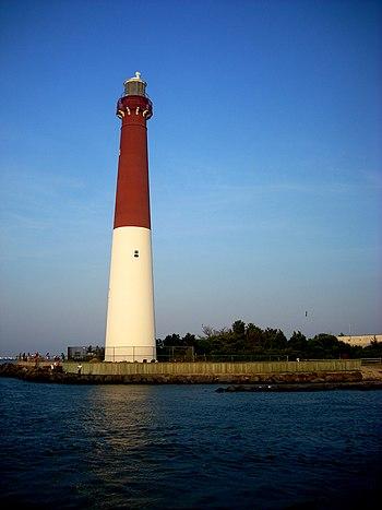English: Barnegat Lighthouse, taken from a boa...