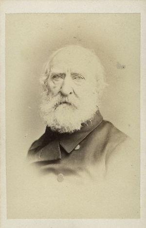Abraham Cooper - Carte de visite of Abraham Cooper, 1860s.