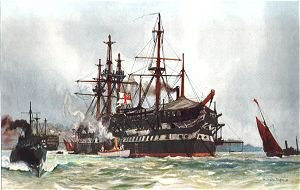 HMS Implacable (1805) - The old Implacable, by Charles Dixon.