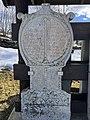 Old tombstones on display at the graveyard (kirkegård) by Sør-Fron Church (Gudbrandsdalsdomen kirke 1792) Hundorp Gubrandsdalen Norway 2017-03-23 Spring sun IMG 1951.jpg