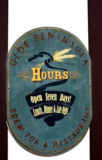 Kalamazoo, Michigan - Olde Peninsula, one of Kalamazoo's small breweries.