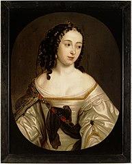 Portret van een vrouw, mogelijk Anna Isabella van Beyeren van Schagen (1636-1716). Echtgenote van Maurits Lodewijk van Nassau-Beverweerd