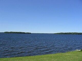 lake in Oswego County, New York, USA