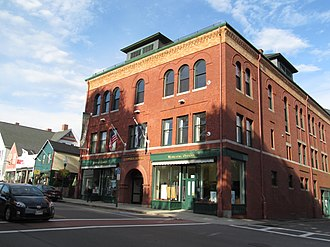 National Register of Historic Places listings in Knox County, Maine - Image: Opera Block, Camden, Maine