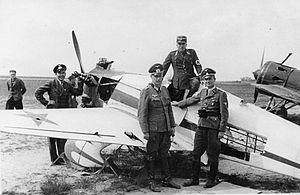 Yakovlev UT-1 - Germans inspecting UT-1
