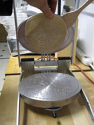 Christmas wafer - Wafer machine