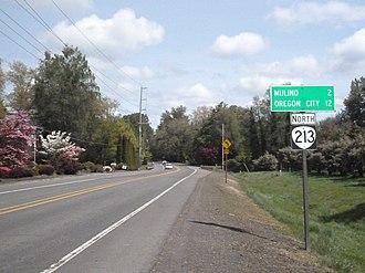 Oregon Route 213 - Oregon Route 213 Near Mulino, Oregon