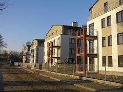 widok na budynki 1-4 z ul. Szczęsnej