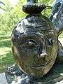 Otto Charles Bänninger (1897–1973) Bildhauer. Skulptur Janus, 1962, Detail. Standort auf dem Totentanz -Platz in Basel (0) - Kopie.jpg