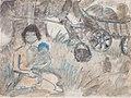 Otto Mueller - Zigeunermadonna mit Planwagen - ca1927.jpeg