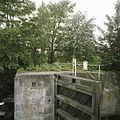 Overzicht met houten puntdeur van de schutsluis - Gouda - 20387971 - RCE.jpg