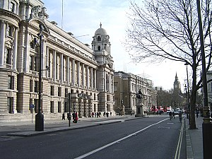 War Office - View of the former War Office building looking south along Whitehall.