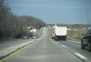 Pennsylvania Route 263 - Northbound PA 263 in Buckingham Township.