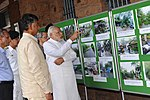 PM Modi visits Visakhapatnam to review the extent of damage, relief and rescue operations for Cyclone Hudhud.jpg