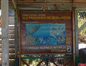 Old Providence McBean Lagoon National Natural Park - Park entry at Crab Cay