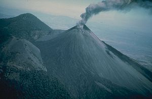 Amatitlán: Pacaya erupting in 1976