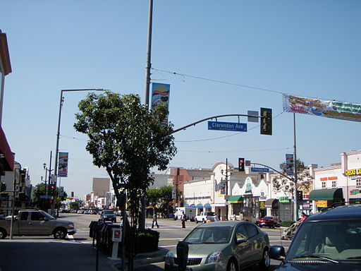 Pacific Boulevard and Clarendon Avenue