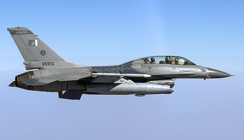 Pakistan Air Force General Dynamics F-16BM Fighting Falcon (altered).jpg