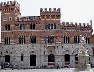 Palazzo Aldobrandeschi a Grosseto, Tuscany (Italy)