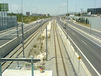 Pallini station - Station platforms