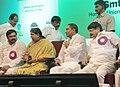 Panabaka Lakshmi, the Chief Minister of Andhra Pradesh, Shri N. Kiran Kumar Reddy, the Minister of State for Road Transport & Highways, Shri Sarvey Sathyanarayana and Anjan Kumar Yadav, MP.jpg