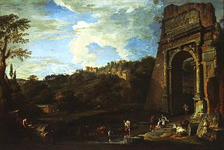 Landscape with the Arch of Titus
