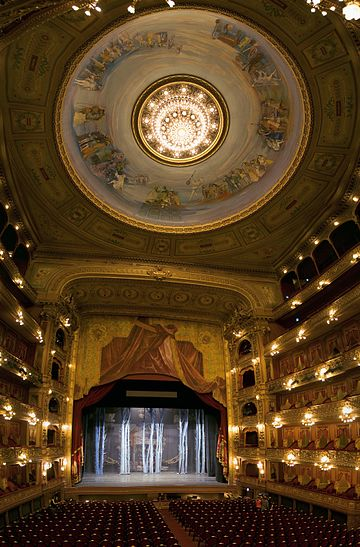 Interior of the Teatro Colón, a modern theater
