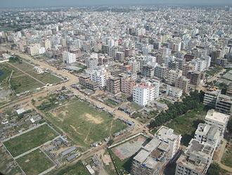 Demographics of Bangladesh - Bird's eye view of Dhaka in 2012