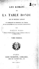 Paris, Paulin - Romans de la Table Ronde, tome 1.djvu