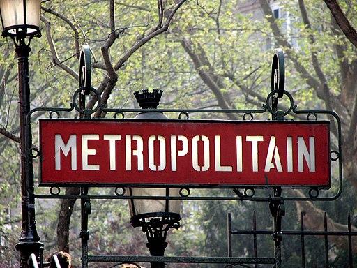 Paris Métro signage