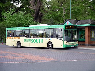Coventry park and ride - Travel de Courcey MCV Evolution bodied Man 14.220 bus at War Memorial Park in April 2007