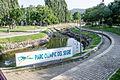 Parque Olímpico del Segre. Canal de aguas bravas y panel.jpg