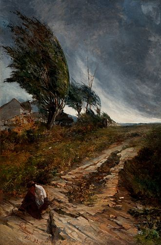 Antônio Parreiras - The Windstorm (1888), one of his most often reproduced paintings