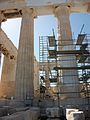 Partenó amb bastides, Acròpoli d'Atenes.JPG