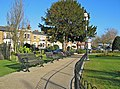Pathway and benches in Prittlewell Square - geograph.org.uk - 734156.jpg