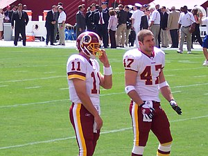 Patrick Ramsey - Ramsey and Chris Cooley in 2005 with the Washington Redskins.
