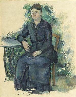 Marie-Hortense Fiquet - Image: Paul Cézanne Madame Cézanne au jardin