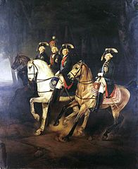 Equestrian Portrait of Emperor Paul I with his Sons and Joseph I, King of Hungary