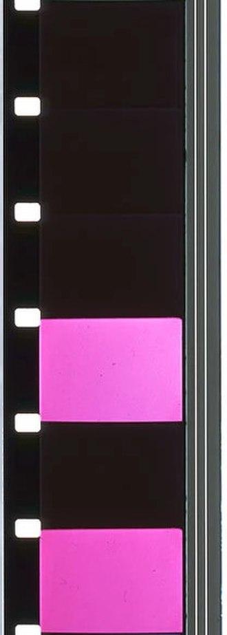 Paul Sharits - Film strip for N:O:T:H:I:N:G, one of Sharits's flicker films